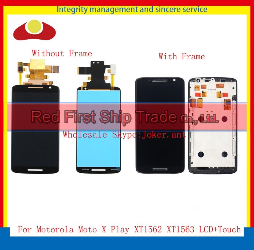 20Pcs/lot DHL EMS For Motorola Moto X Play XT1562 XT1563 Full Lcd Display Touch Screen Digitizer Sensor Assembly Complete+Frame 2016 sale rushed 10pcs free dhl ems for motorola moto xt1254 touch digitizer lcd display 100
