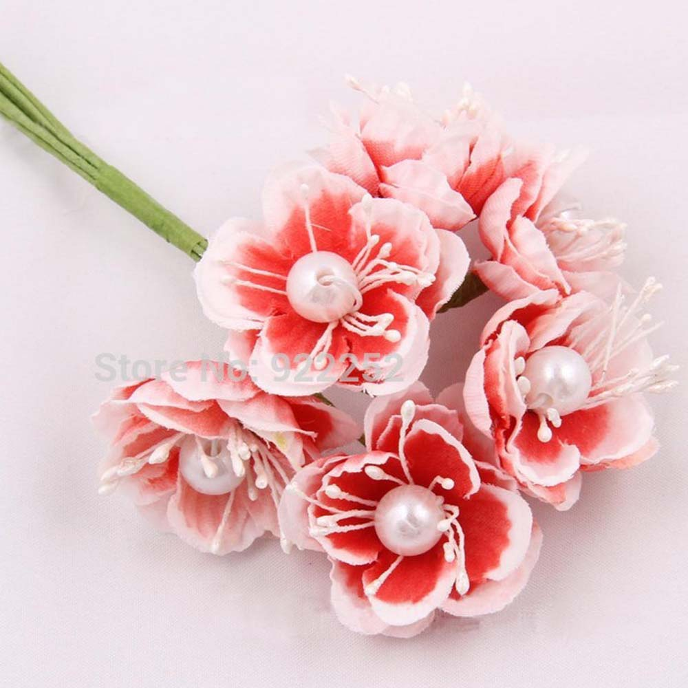 Small silk flowers for hair choice image fresh lotus flowers 72pcs3 4cm head fake fabric cherry blossom artificial silk roses mightylinksfo