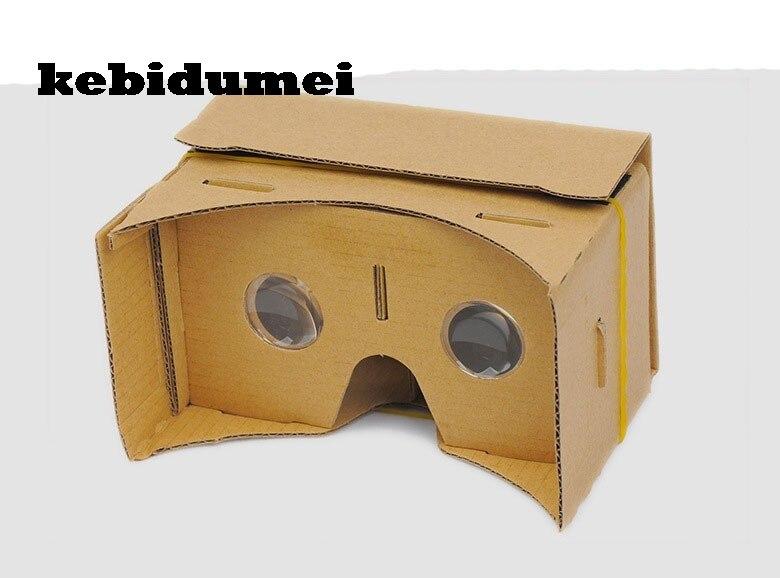kebidumei DIY Magnet Google Cardboard Virtual Reality VR Mobile Phone 3D Viewing Glasses For 5.0″ Screen Google VR 3D Glasses