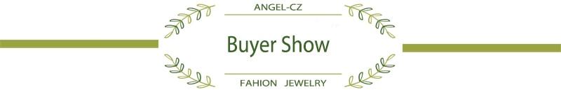 ANGELCZ 18 New Design Women Dress Jewelry Leaf Cubic Zirconia 925 Sterling Silver Strand Bracelet With Red Black Stone AB007 18