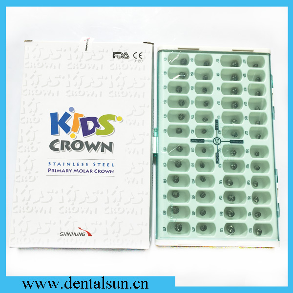 Stainless Steel Primary Molar Crown For Kids/SHINHUNG Dental Stainless Steel Kids Crown
