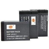 DSTE 3PCS LP E17 Rechargeable Battery for Canon EOS M3 200D 750D 760D T6i T6s 8000D Kiss X8i EOS 250D Rebel SL3 Kiss X10