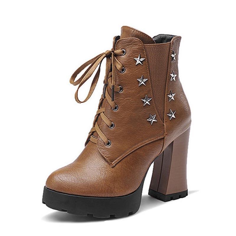 Popular Studded Platform Heel Boots-Buy Cheap Studded Platform