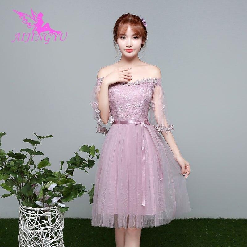 AIJINGYU 2018 girl sexy wedding party   bridesmaid     dresses   short formal   dress   BN706