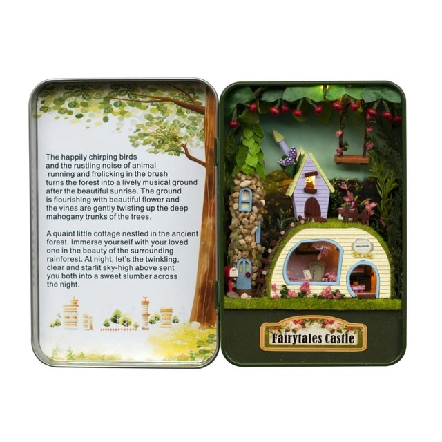 Fantastic cottage box theatre diy mini doll house 3d miniature fantastic cottage box theatre diy mini doll house 3d miniature colored lightmetal box solutioingenieria Image collections