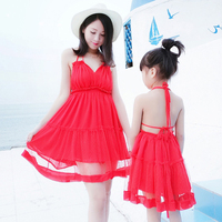 Sexy Red Backless Dress for Mother Daughter Kid Girl Women Summer Dresses Matching Mother Daughter Matching Outfits Clothing
