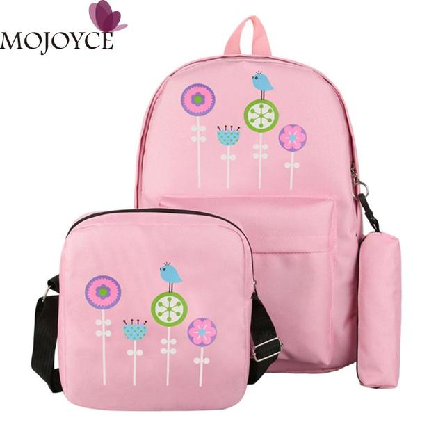 3pcs Set Print Floral Backpack Women Canvas Backpack Fashion Brand School  Bags for Teenager Girls Shoulder Bag with Pencil Case bdb3f3dcdf3d8