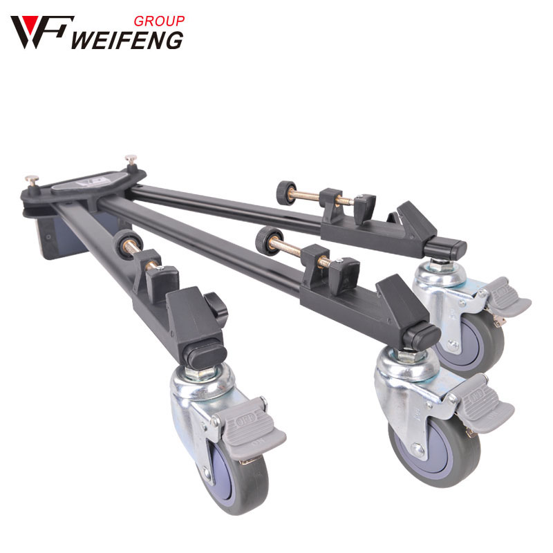 Tripod Legs Weifeng WT-600 Professional Tripod Legs Universal Caster Wheel 717/718 Portable Travel Camera Tripod Legs weifeng wf 717 professional video camera tripod micro film caster wheel base wt 700