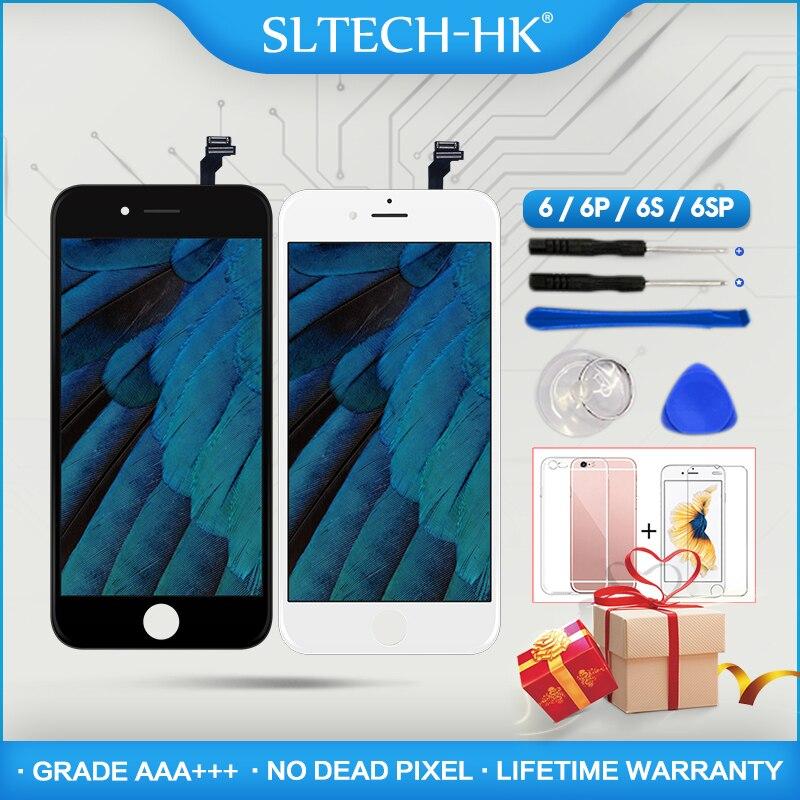 Grade AAA +++ Para iPhone 6 6 S Mais LCD Com Força 3D 5S Tela de Toque Digitador Assembléia Para iPhone exibir Nenhum Pixel Morto