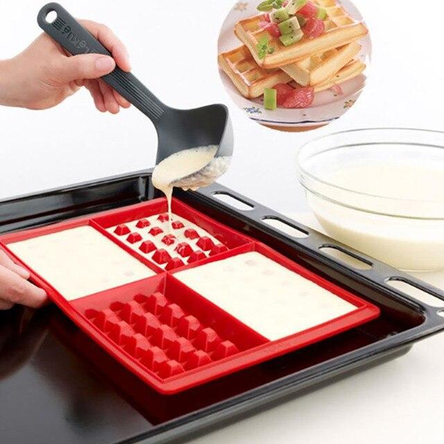 No-stick de silicona de molde de cocina para hornear pastel molde para horno de alta temperatura fondue de Chocolate caramelo hornear conjunto