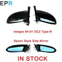 Integra DC2 1994 2001 Тип R ложка Стиль углеродного волокна зеркала для Honda Глянцевая Fibre внешние аксессуары