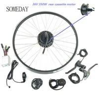 Venta SOMEDAY Ebike Kit de conversión de bicicleta eléctrica 36V350W rueda de Motor de casete trasero 16