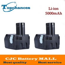 2X High Quality Power Tool Rechargeable Battery For Hitachi EBM1830 327730 BCL1815 DH18DL DS18DL DV18DL 18V 5000mAh Li-ion