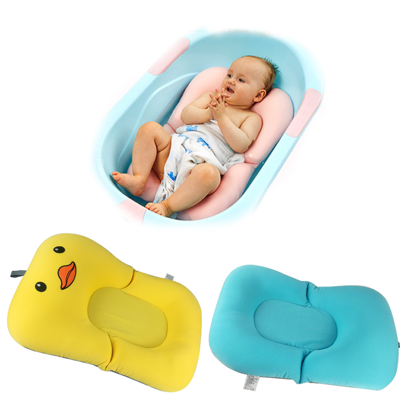 Cute Cartoon Baby Bath Bloom Baby Bathtub Newborn Bathing Pad ...