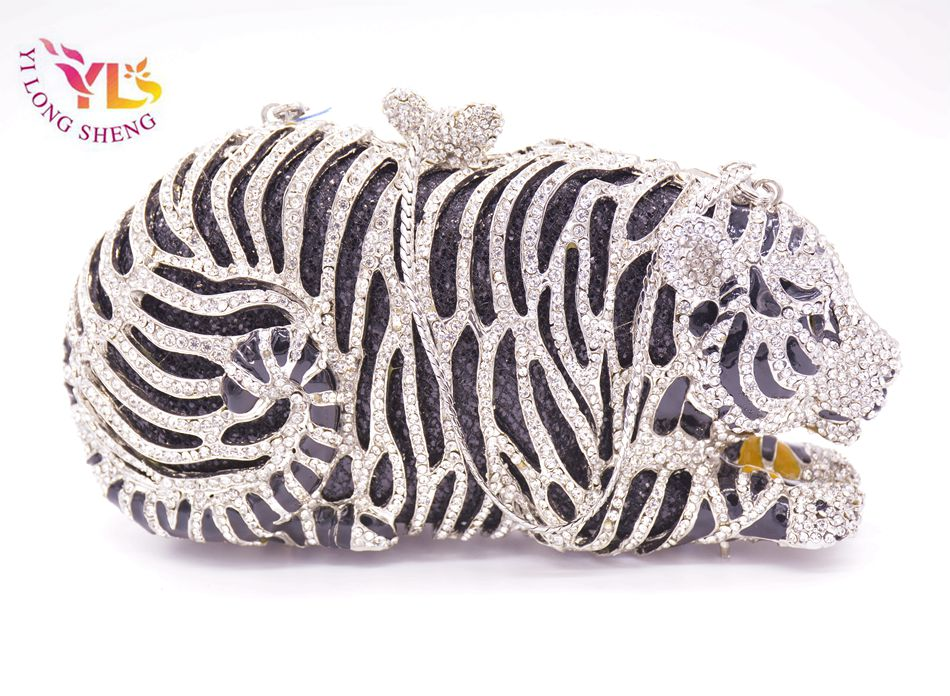 Tygrysia torebka kryształowa Damska torebka w kształcie szalonego - Torebki - Zdjęcie 6