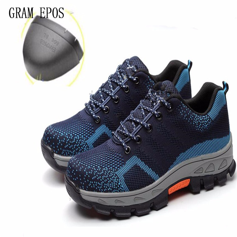 Men Anti-skip Oxfords Boots Work Safety Shoes Steel Toe Cap Anti-Smashing Puncture Proof Durable Winter Protective Footwear