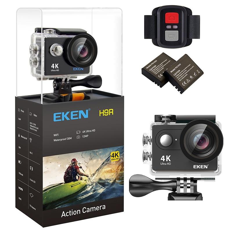 Original EKEN H9/H9R Ultra 4 K HD Wifi Cámara de Acción impermeable 170D 1080 p 60FPS submarina ir submarino extreme pro sport cam
