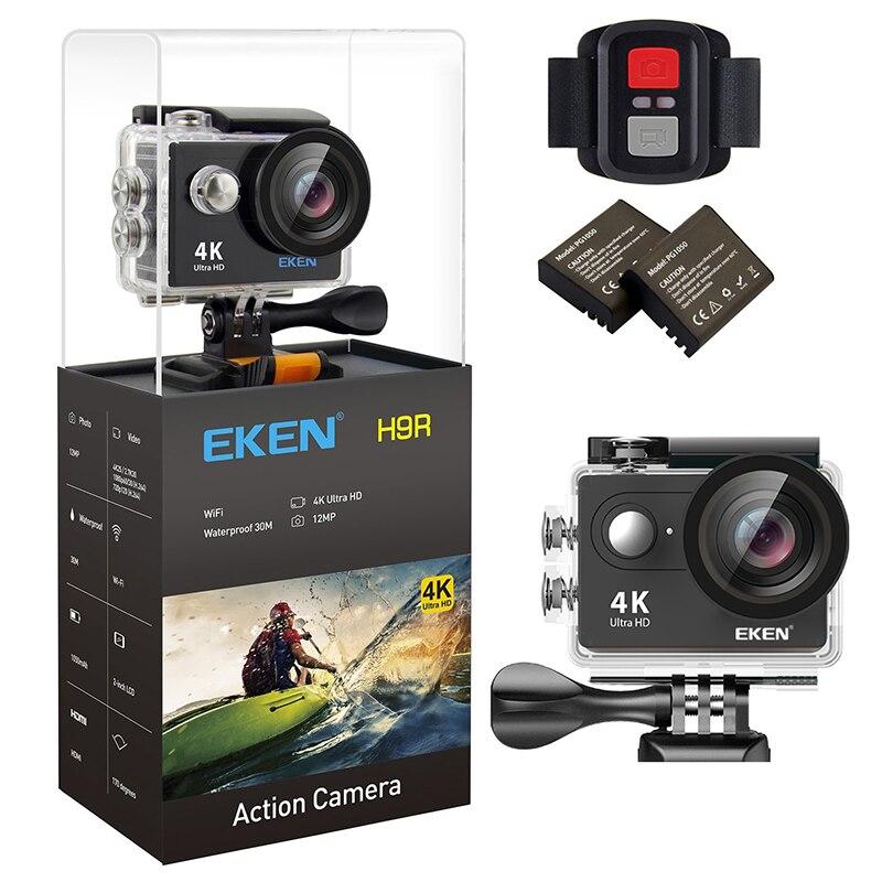 Ursprüngliche EKEN H9/H9R Ultra 4 Karat HD Wifi Action Kamera wasserdichte 170D 1080 p 60FPS unterwasser go unterwasser extreme pro sport cam