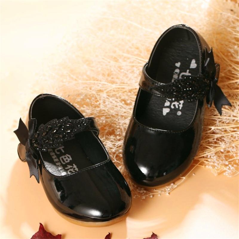 Mutter & Kinder Lederschuhe ZuverläSsig Weoneit Kinder Baby Kleinkind Kinder Mädchen Schwarz Rot Weiß Party Hochzeit Kleid Prinzessin Leder Schuhe Für Mädchen Tanz Schuhe Neue