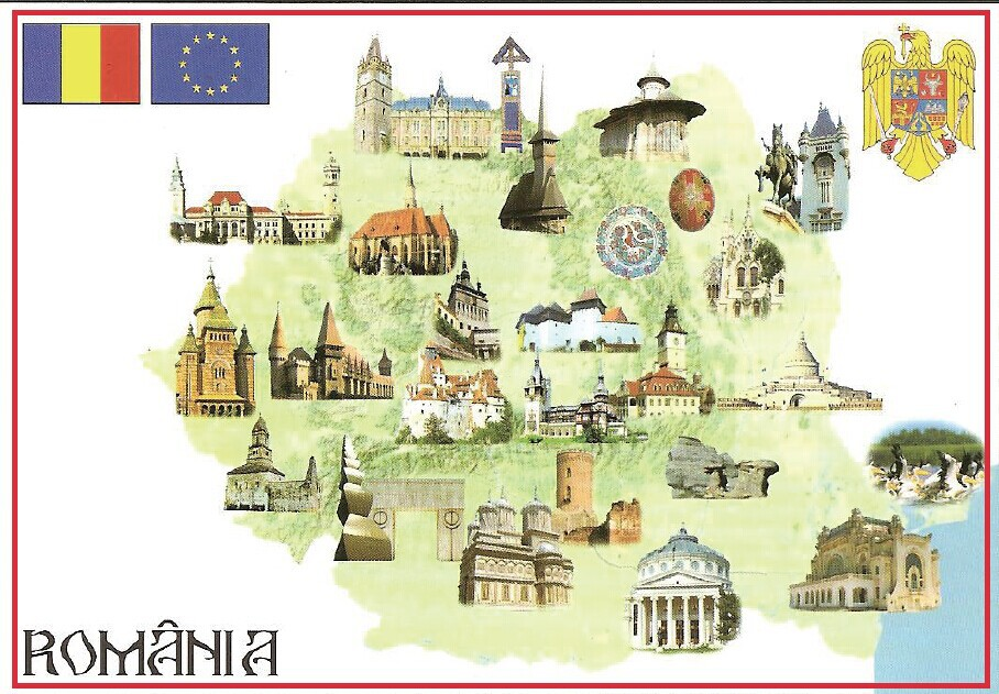 US $3 48 |78*54*3mm Old Postcard,ROMANIA MAP Metal Wrapped Souvenir Fridge  Magnets 20345 Rigid Plate Tourist Memories-in Fridge Magnets from Home &