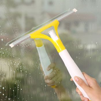 Random Color Spray Window Glass Brush Wiper Cleaner Washing Scraper Home Bathroom Car Window Cleaning Tool