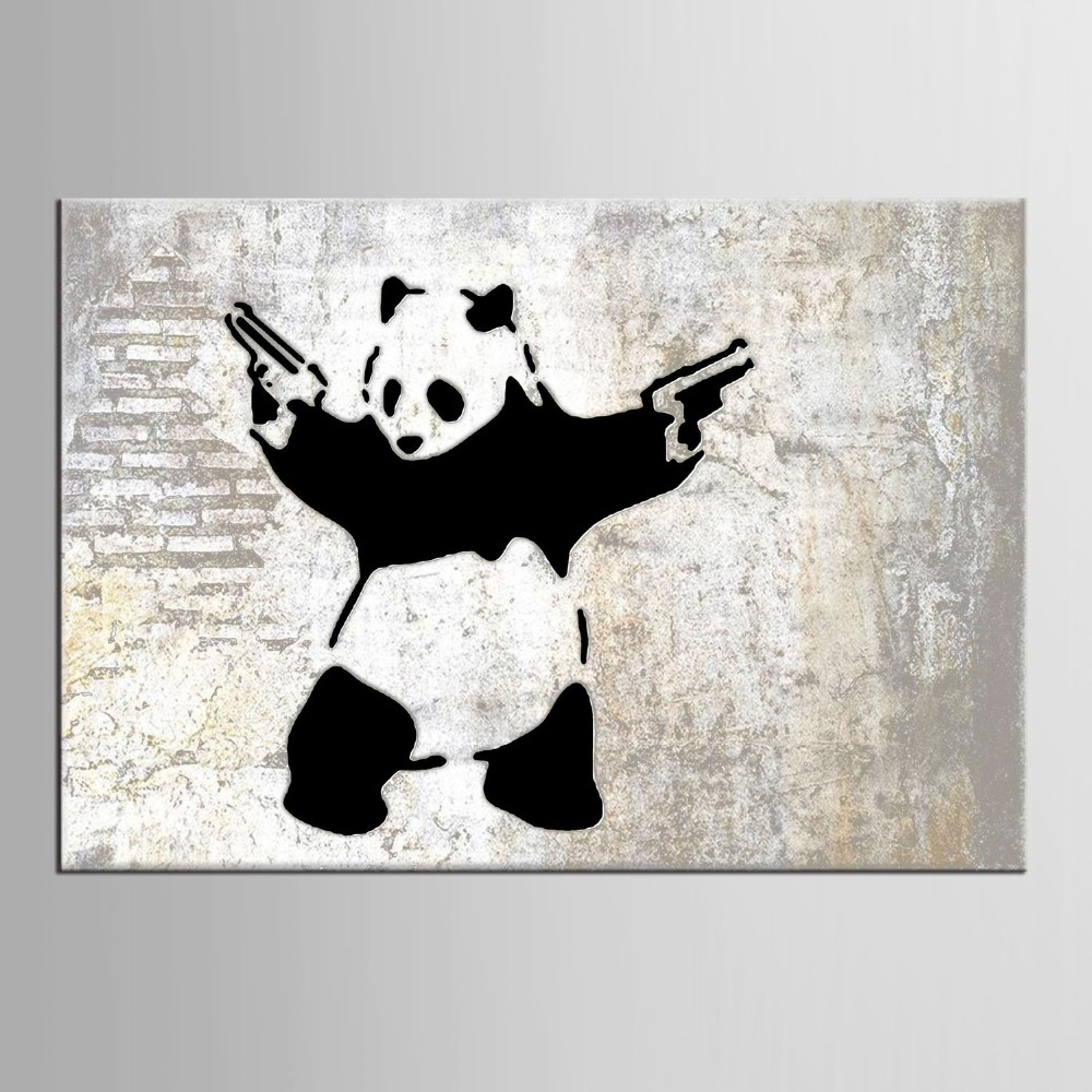 online get cheap modern baby art aliexpresscom  alibaba group -  panel animal panda poster print modern cartoon wall art picture kids babyroom decor canvas