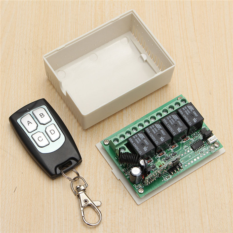 200m DC 12V 4CH Wireless Remote Control Controller Radio Switch 433mhz Transmitter Receiver High Sensitivity Lowest Price