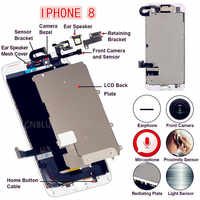 4,7/5,5 Für iPhone8/8 Plus Volle Set Komplett LCD Display Digitizer Montage Ersatz Gute 3D Touch Front kamera Lautsprecher