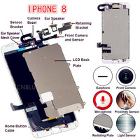 4.7/5.5 For iPhone8/8Plus Full Set Complete LCD Display Digitizer Assembly Replacement Good 3D Touch Front Camera Speaker