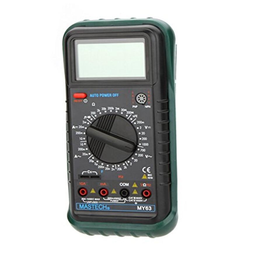 MASTECH MY63 2000 counts Digital Multimeter DMM w/ Temperature Capacitance & hFE Testers Meters Ammeter Megohmmeter
