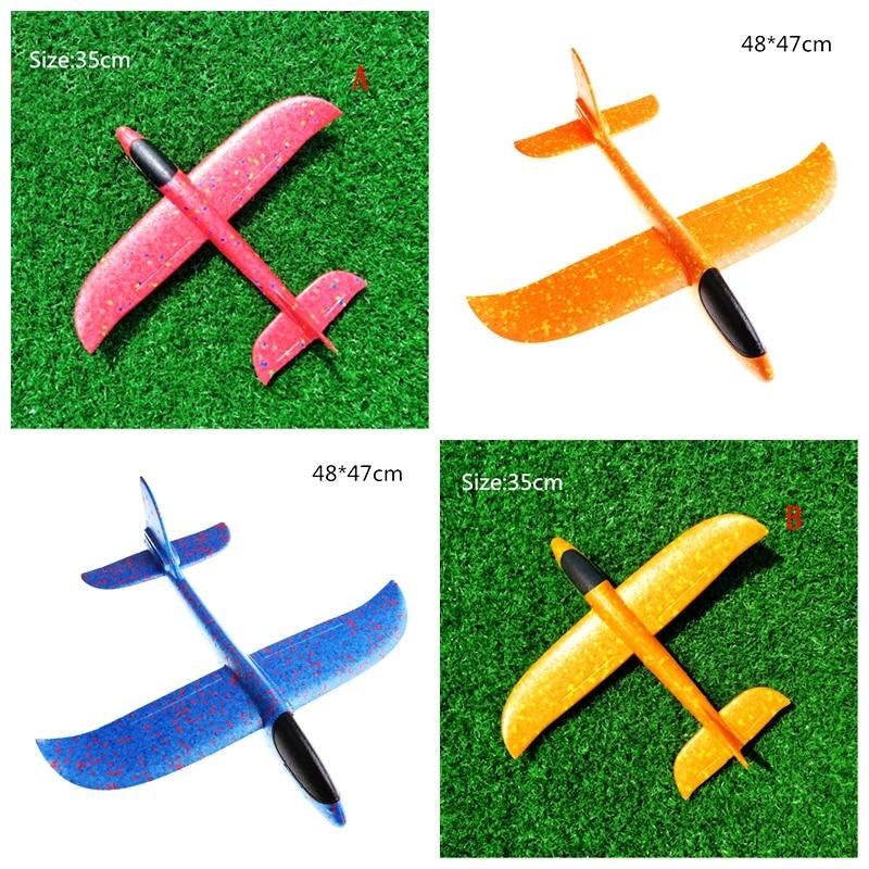 Avion inertiel EPP avion en mousse plastique lancement à la main lancer avion planeur modèle d'avion en plein air enfant jouets 12-48cm