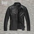 Натуральной кожи куртка мужчины овчины пальто куртки мотоцикла moto chaqueta hombre весте cuir homme cappotto бесплатная доставка LT108