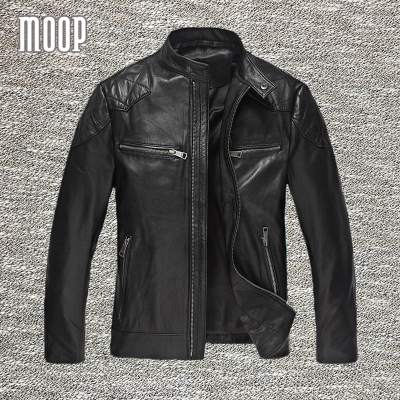 genuine leather jacket men lambskin coats motorcycle. Black Bedroom Furniture Sets. Home Design Ideas