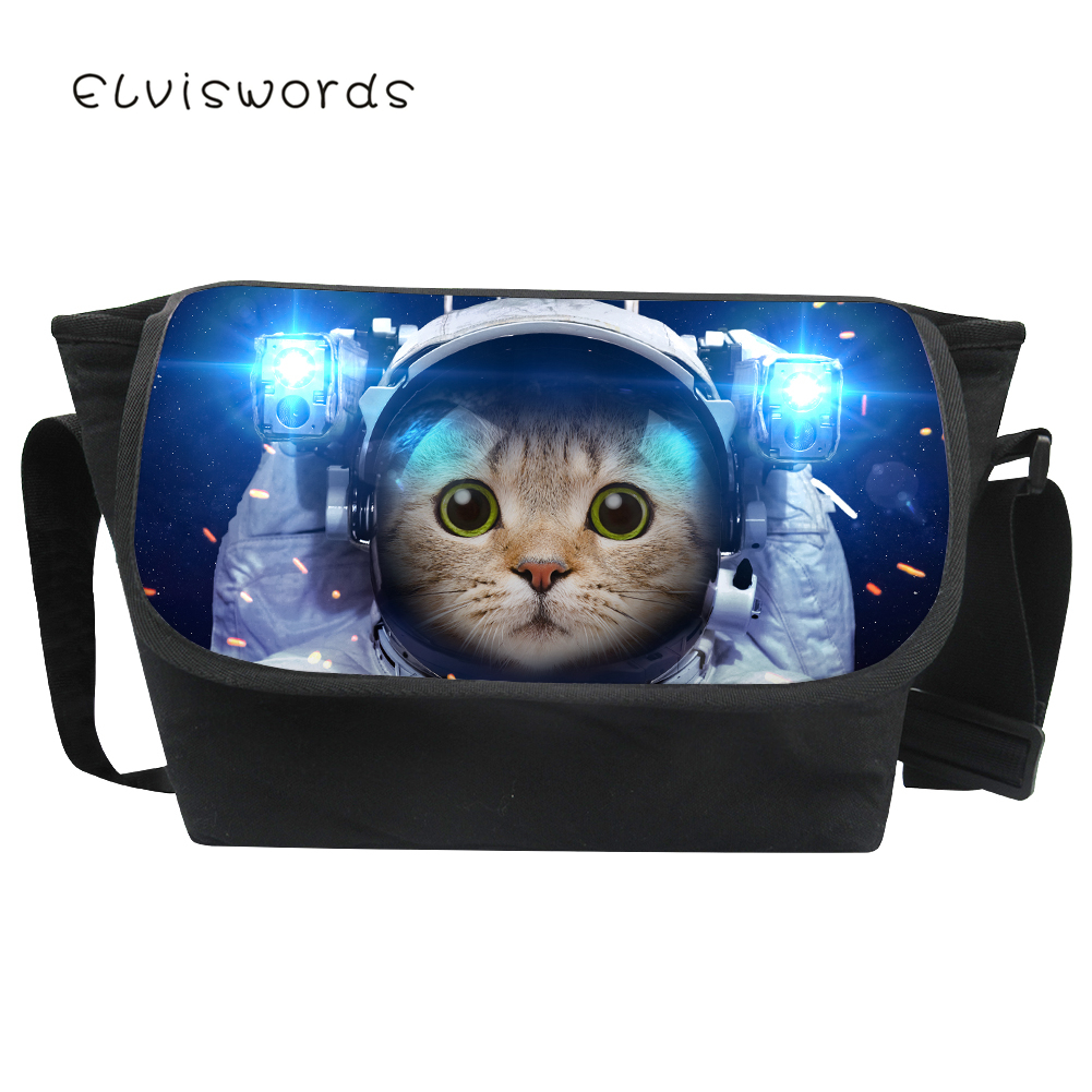 Messenger-Bags Canvas Crossbody Animals Fiminina Large Fashion Casual ELVISWORDS