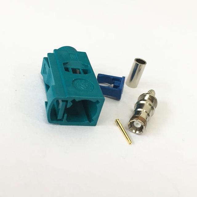 1 stück Fakra Z buchse wasser blau farbe crimp für RG316 RG174 Kabel ...