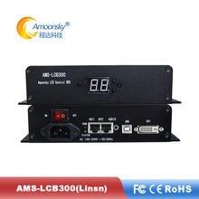 Amoonsky AMS-LCB300 led caixa de remetente com ts802d envio cartão suporte ajuste brilho embutido meanwell fonte alimentação