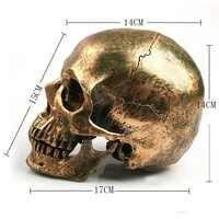 P-Chama 1:1 Modelo Crânio Resina Decoração Pintura Medicina Maquiagem do Dia Das Bruxas Adereços Modelo Estátua Escultura Artesanato decoração da Casa