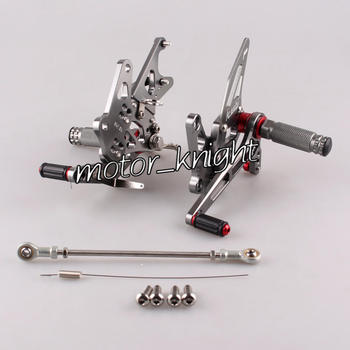 Motorcycle Rearset Rear set Foot pegs For  Hayabusa GSX1300R 2008-2014 Grey