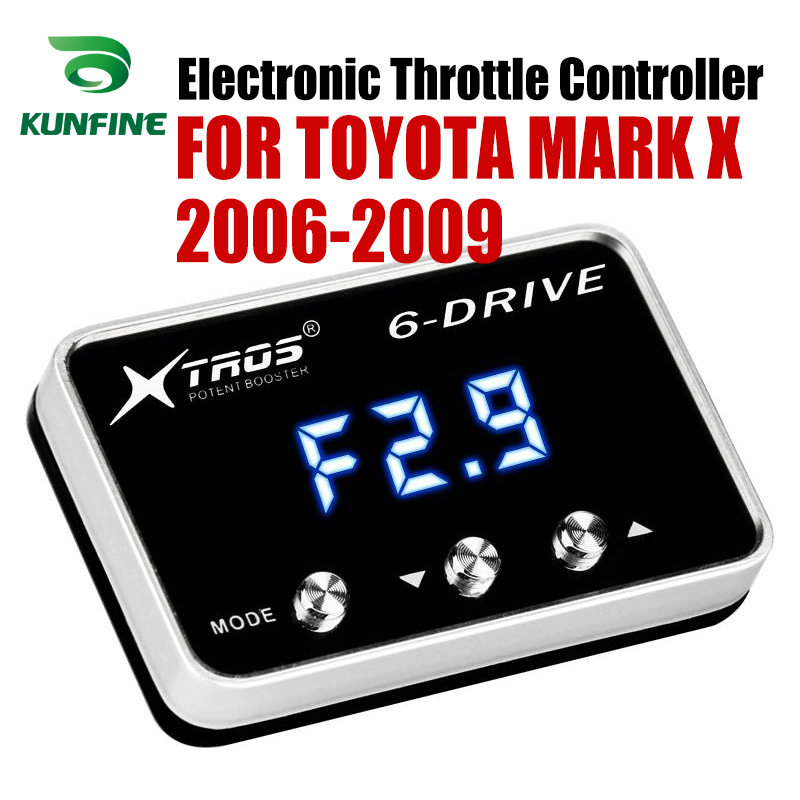 Car Electronic Throttle Controller Racing Accelerator Potent Booster For TOYOTA MARK X 2006-2009 Tuning Parts AccessoryCar Electronic Throttle Controller Racing Accelerator Potent Booster For TOYOTA MARK X 2006-2009 Tuning Parts Accessory