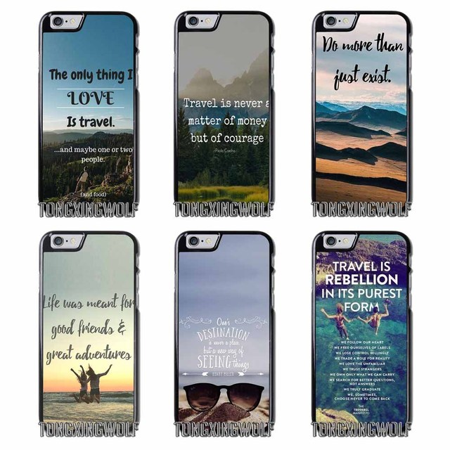 Best Adventure Travel Quotes Cover Case For Iphone 4 4s 5 5c 5s Se 6 6s