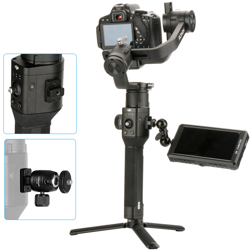 Camera Monitor Mounting Plate for DJI Ronin S, Nato Rail Arri Locating Holes 1/4 Thread Holes for Magic Arm/Monitor/Microphone цена
