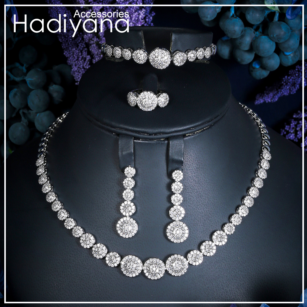 Hadiyana Luxury Jewelry Set Aliexpress With AAA Cubic Zircon Woman Copper Wedding Acessories Jewelry Sets More Wholesale CN083