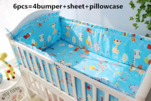 Promotion 6 7PCS baby bedding baby cradle crib bedding baby comforter crib set Duvet Cover 120