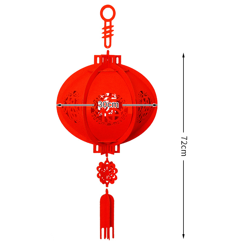 Bright Lanterns Wedding Decoration Non-woven Palace Lantern New Year Hanging Red Lantern Chinese Spring Festival Party Decor Attractive And Durable Lights & Lighting
