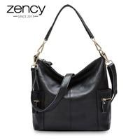 Zency Famous Brand Designer Handbags 100 Genuine Leather Women Shoulder Bag Large Capacity Messenger Tote Female