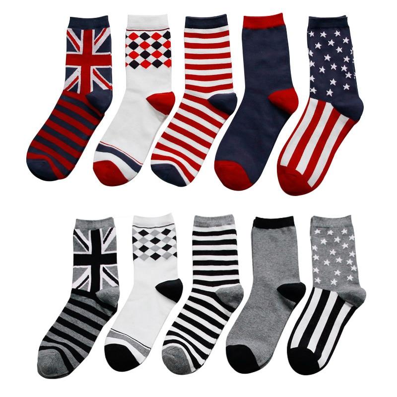 8 COLOR Cotton British stripe flag   socks   funny happy   socks   Unisex Leisure summer   socks   Multi-color high quality Hot Sale