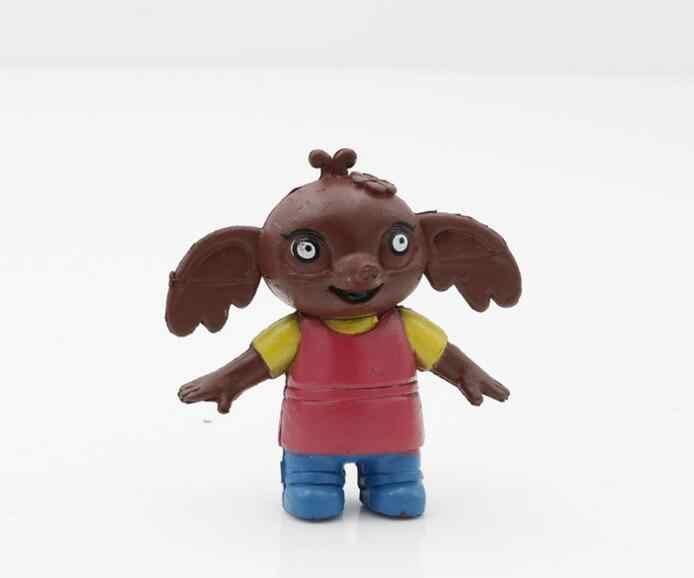 Bing 5 pçs/set Quente Figura de Ação Brinquedo do Coelho de Coelho Bonito Elefante Panda Urso Modelo Boneca Brinquedos Caçoa o Presente