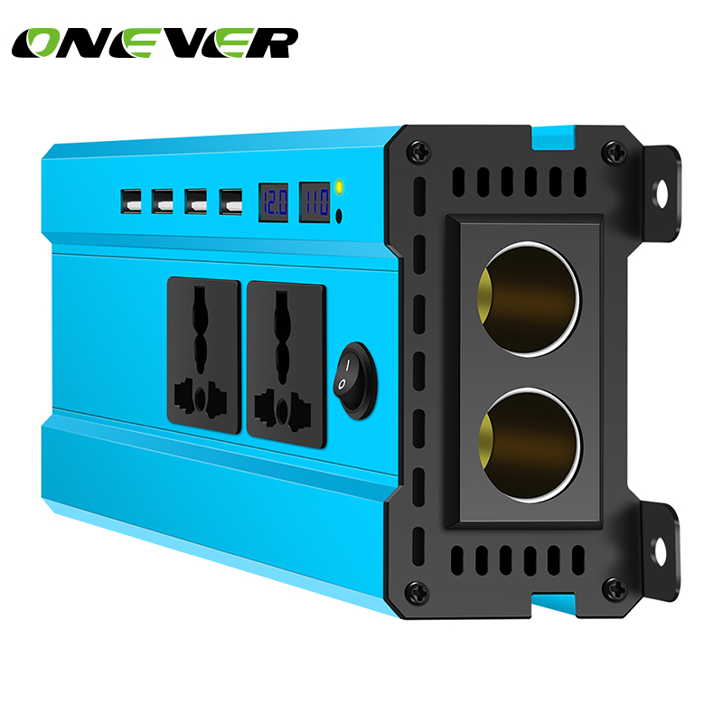 4000W Car Power Inverter Charger DC 12V 24V To AC 220V Sine Wave Converter Interfaces Voltage
