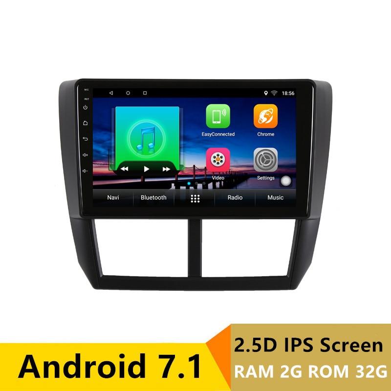 2 + 32 gb 2.5D IPS android 7.1 dvd de voiture pour Subaru Forester 2008 2009 2010-2012 radio navigation voiture stéréo GPS lecteur multimédia