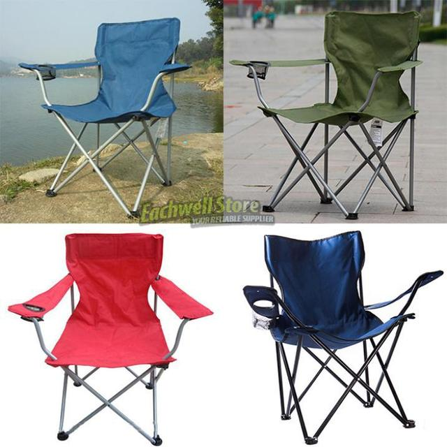 Outdoor Lightweight Metal Foldable Fishing Chair Camp Camping Chair Stool  Garden Travel Folding Fold Up Chair